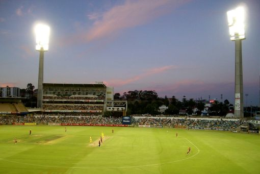 Western Australia vs Queensland - Cricket under lights at the WACA.
