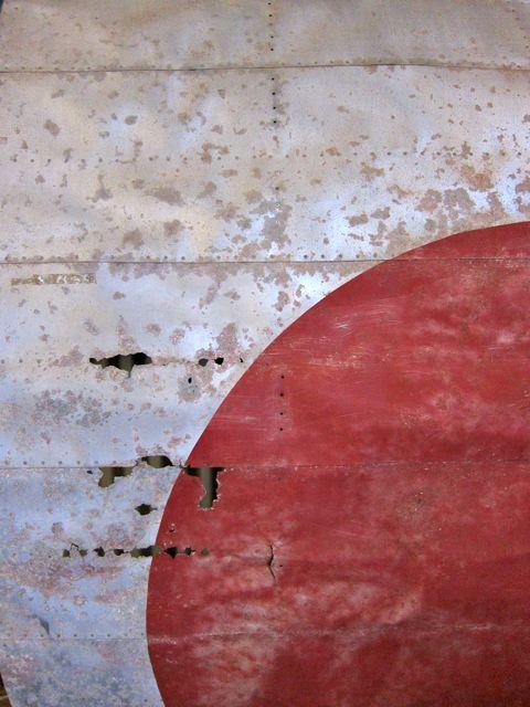 """Japanese """"Zero"""" fragment. Australian Aviation Heritage Museum: Darwin. NT."""